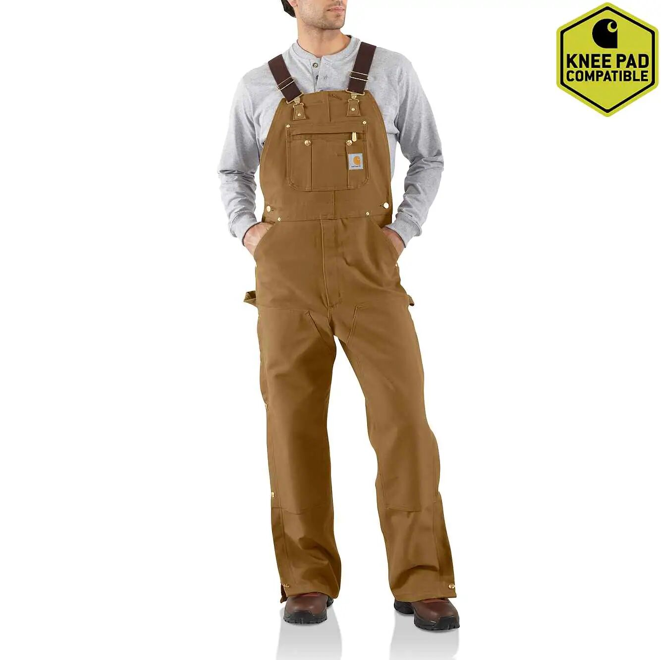 Duck Zip-to-Thigh Bib Overall Unlined