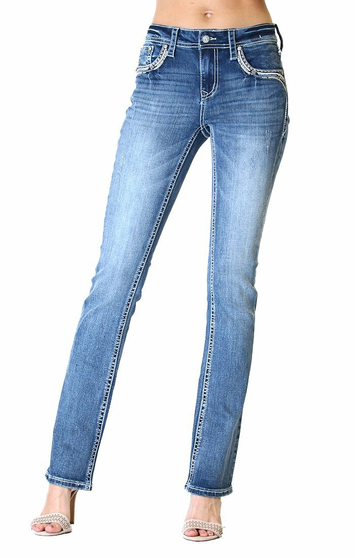 Western Embellished Easy Bootcut Jeans